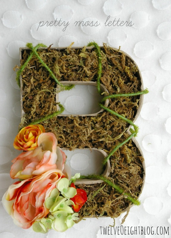 diy moss letters