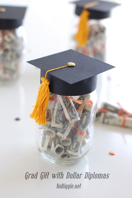 graduation gift with dollar diplomas mason jar centerpieces for graduation party