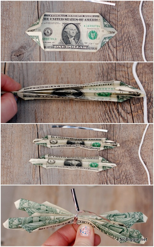 learn how to make a butterfly money lei | NoBiggie.net