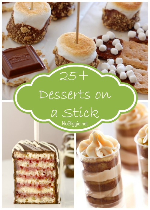 25+ Desserts on a Stick via NoBiggie.net
