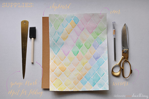 Learn how to make this pretty watercolor notebook | NoBiggie.net