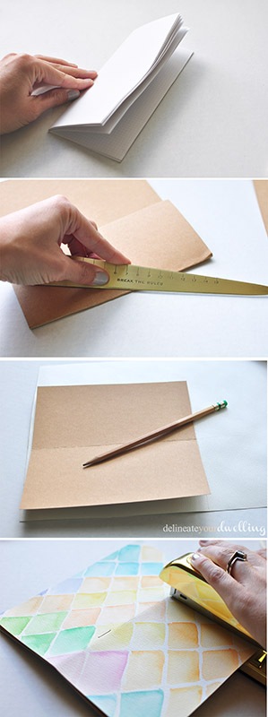 DIY watercolor notebook | NoBiggie.net