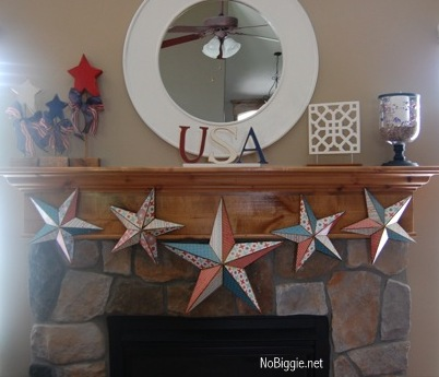 4th of July Mod Podge Stars +25 4th of July Party Ideas | NoBiggie.net