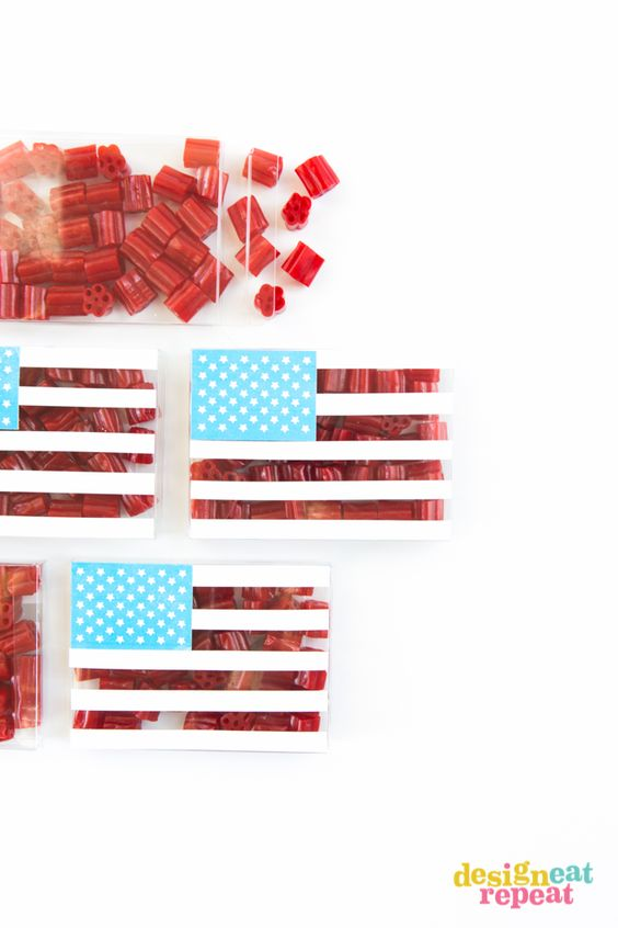 4th of July Party Favor Candy Boxes