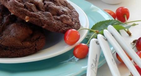 Double-Chocolate-Cherry-Cookies | NoBiggie.net