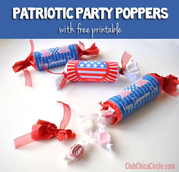 Patriotic Party Poppers   +25 4th of July Party Ideas