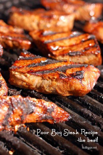 Poor Boy Steak Marinade Recipe - this recipe wins awards! | NoBiggie.net
