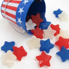 Red White and Blue Gumdrops | 25+ Patriotic Treats