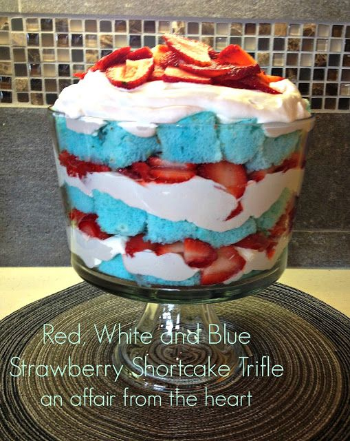 Red White and Blue Strawberry Shortcake | 25+ Patriotic Treats