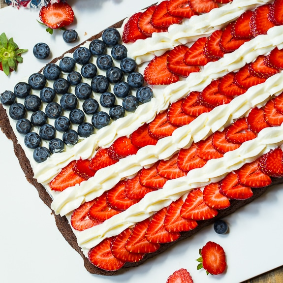 Flag Brownies | 25+ 4th of July Party Ideas