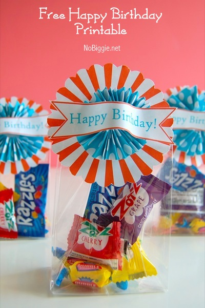free Happy Birthday printable treat topper | NoBiggie.net