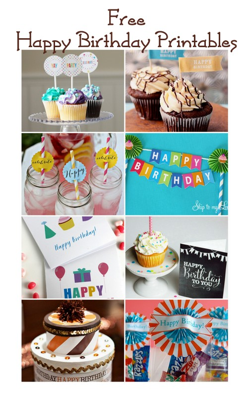 Free Birthday Printables + blog hop