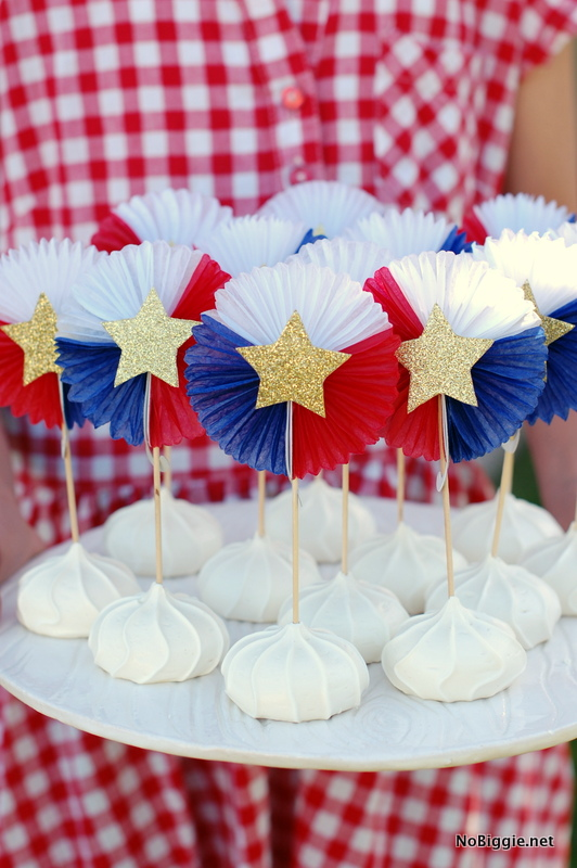 meringue treats for the 4th of July | NoBiggie.net