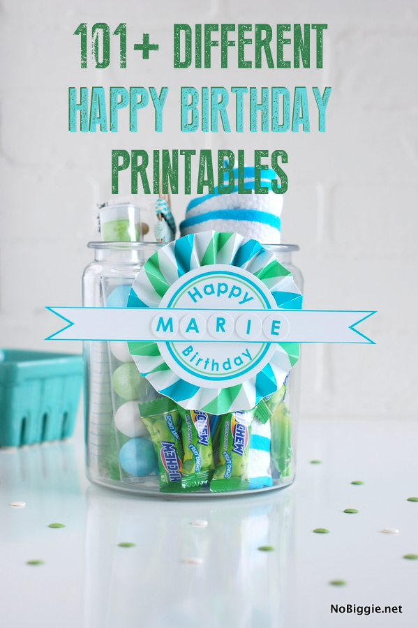 101+ Different Happy Birthday Printables