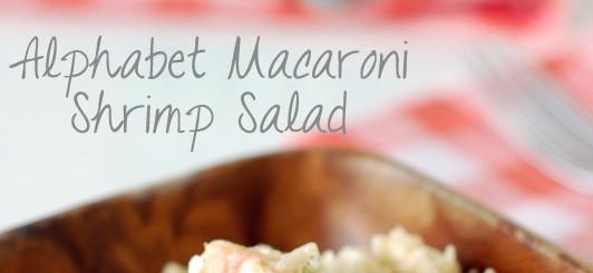 Alphabet macaroni shrimp salad | NoBiggie.net