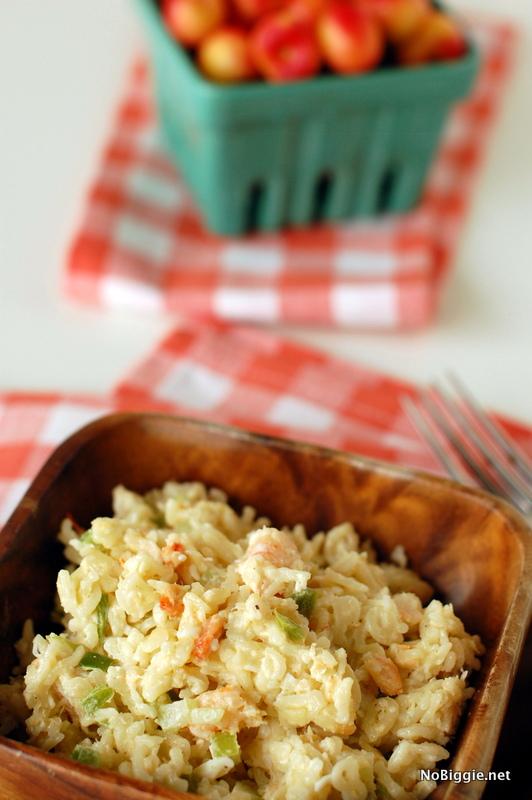 Alphabet macaroni shrimp salad recipe | NoBiggie.net