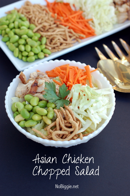Asian chicken chopped salad - so easy so good | NoBiggie.net