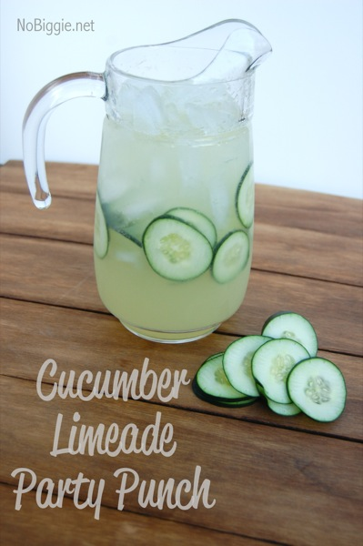 Cucumber Limeade Party Punch | 25+ Non-Alcoholic Summer Drinks
