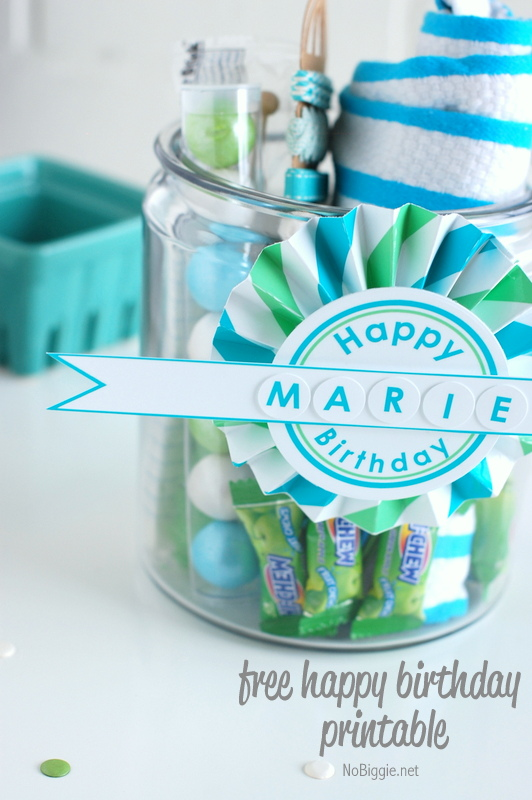 DIY birthday printable for free | NoBiggie.net