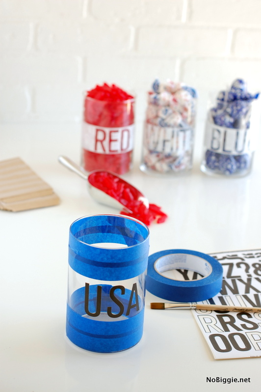 DIY candy buffet for the 4th | NoBiggie.net