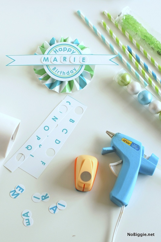 DIY free birthday printable | NoBiggie.net