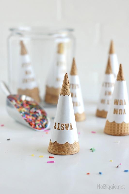 DIY ice cream cone wrappers #imadeit   NoBiggie.net