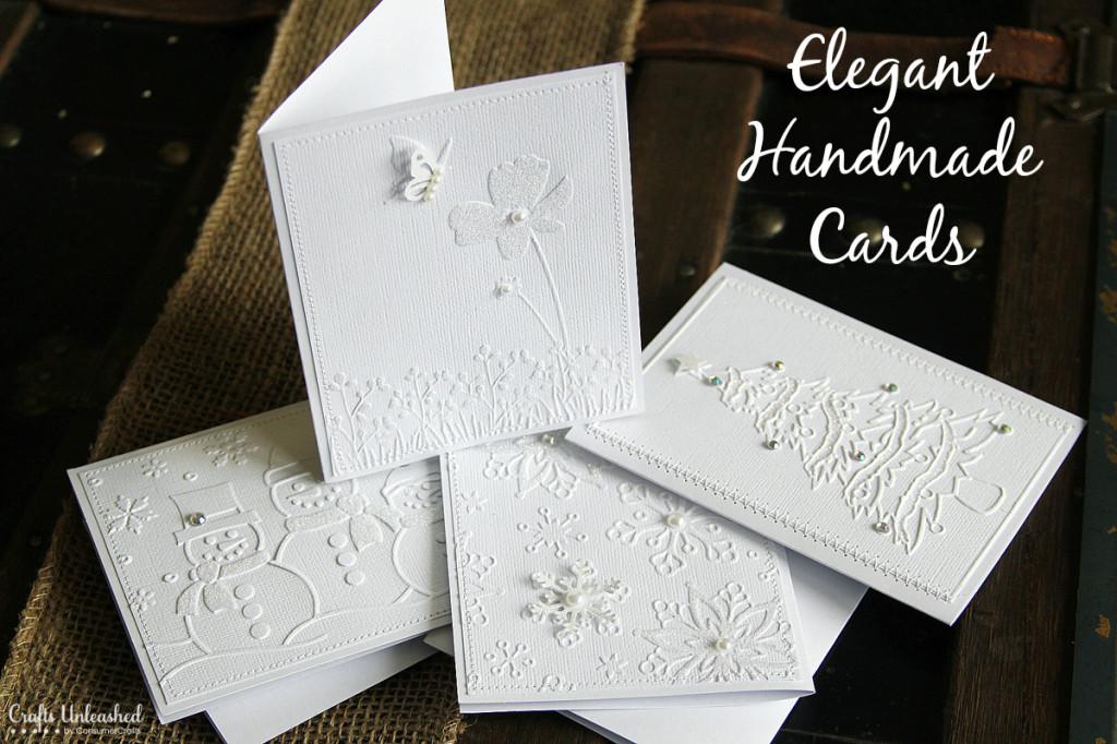 Elegant White Handmade Cards | 25+ Handmade Cards