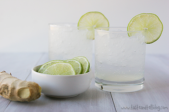 Ginger Lime Spritzer | 25+ Non-Alcoholic Summer Drinks
