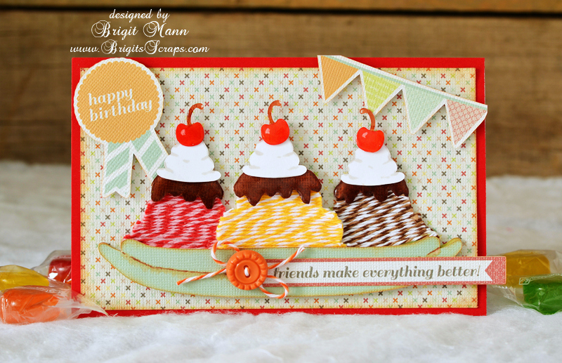 Ice Cream Sundee Card | 25+ Handmade Cards
