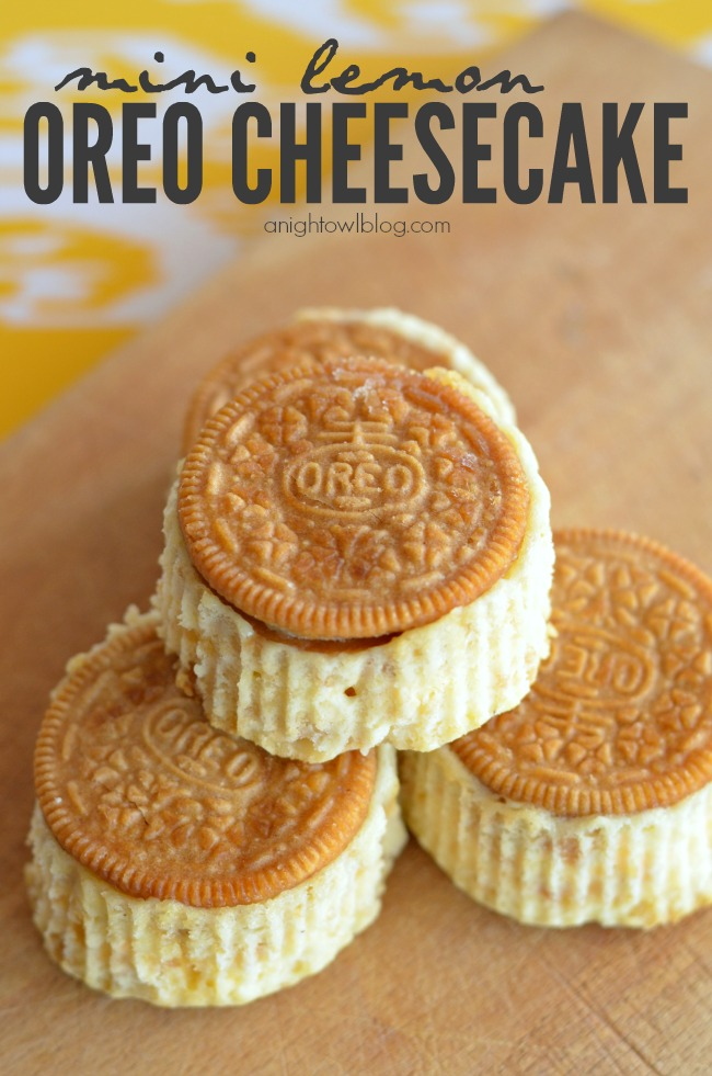 Mini Lemon Oreo Cheesecake | 25+ Bite Size Desserts