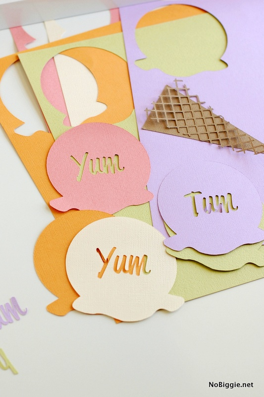 Paper craft and home decor Ice Cream Art | NoBiggie.net