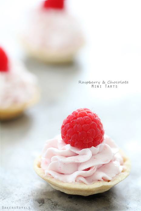 Raspberry & Chocolate Mini Tarts   25+ Bite Size Desserts
