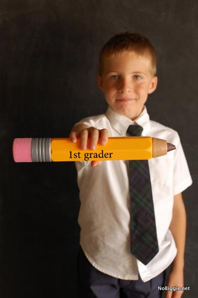 1st grader - back to school photos | NoBiggie.net