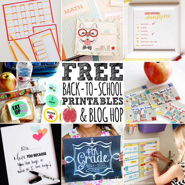 Free Printables for Back to School | NoBiggie.net
