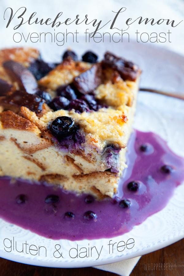 Blueberry Lemon Overnight French Toast | 25+ gluten free and dairy free breakfast recipes