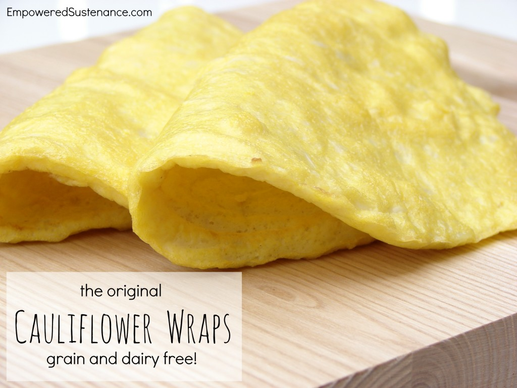 Cauliflower Wraps | 25+ gluten free and dairy free lunch ideas