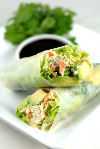 California Rice Paper Rolls | 25+ gluten free and dairy free lunch ideas