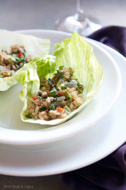 Chicken Lettuce Cups | 25+ gluten free and dairy free lunch ideas