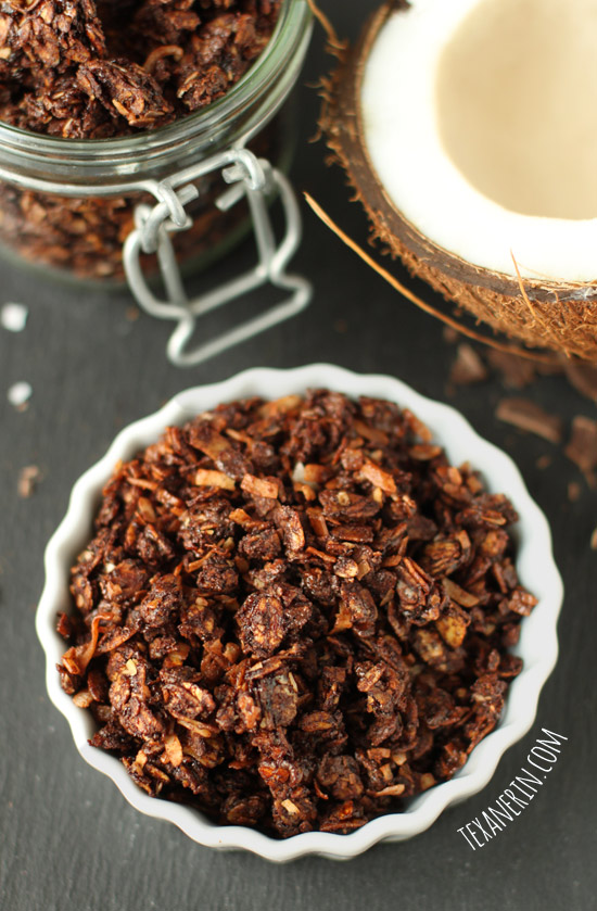 Chocolate Coconute Granola | 25+ gluten free and dairy free breakfast recipes