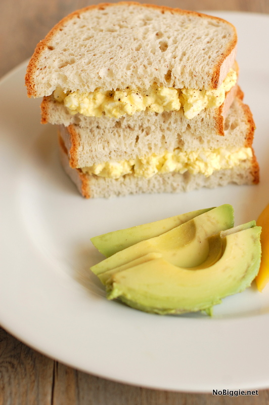 Egg Salad Sandwich with homemade mayo (recipe) | NoBiggie.net