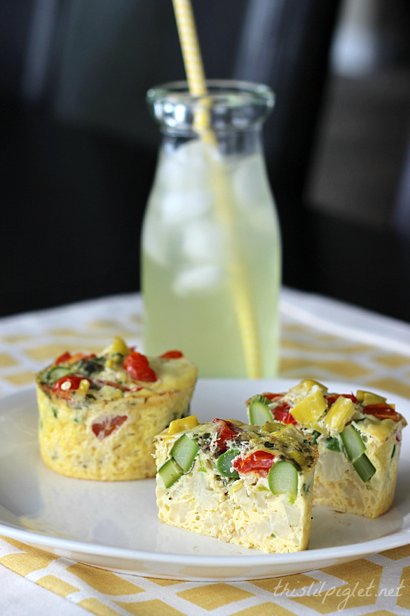 Veggie Power Egg Cups | 25+ gluten free and dairy free breakfast recipes