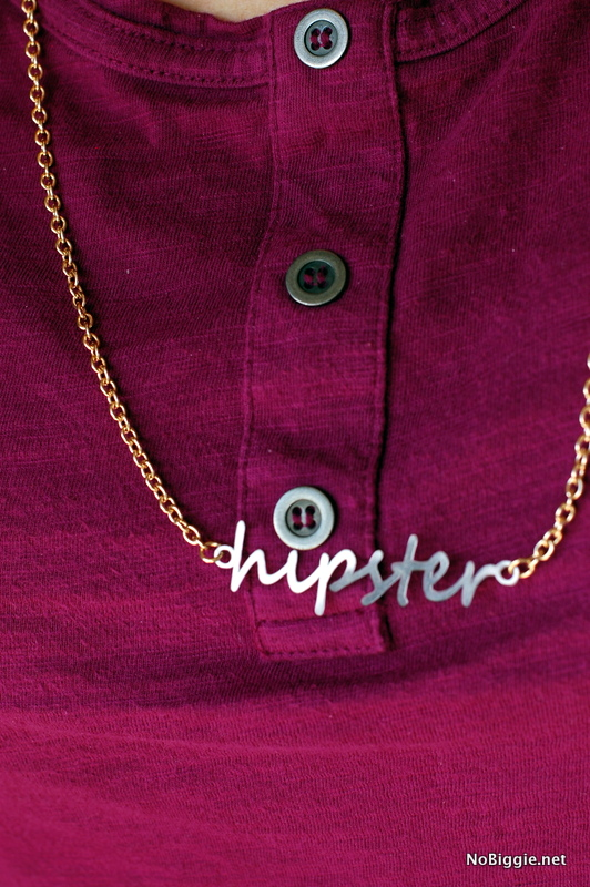 hipster chain made with the #Cricut_Explore | NoBiggie.net