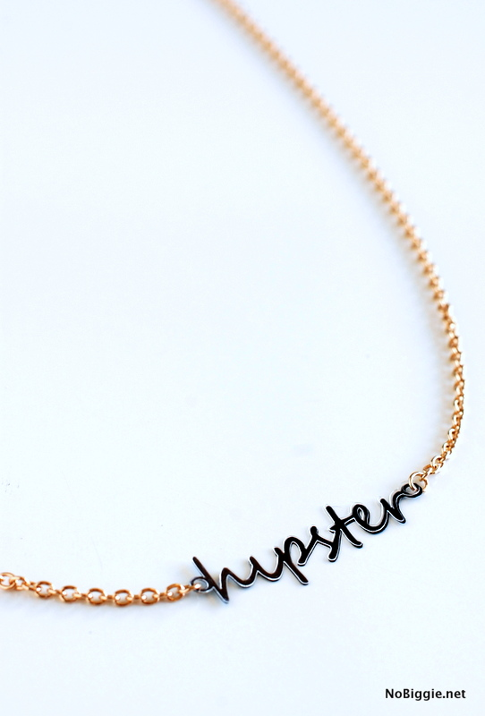 hipster necklace made with the #Cricut_Explore | NoBiggie.net