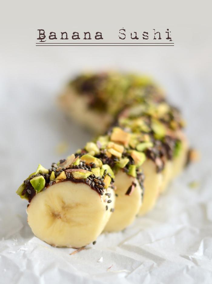 Banana sushi | 25+ gluten free and dairy free snack ideas