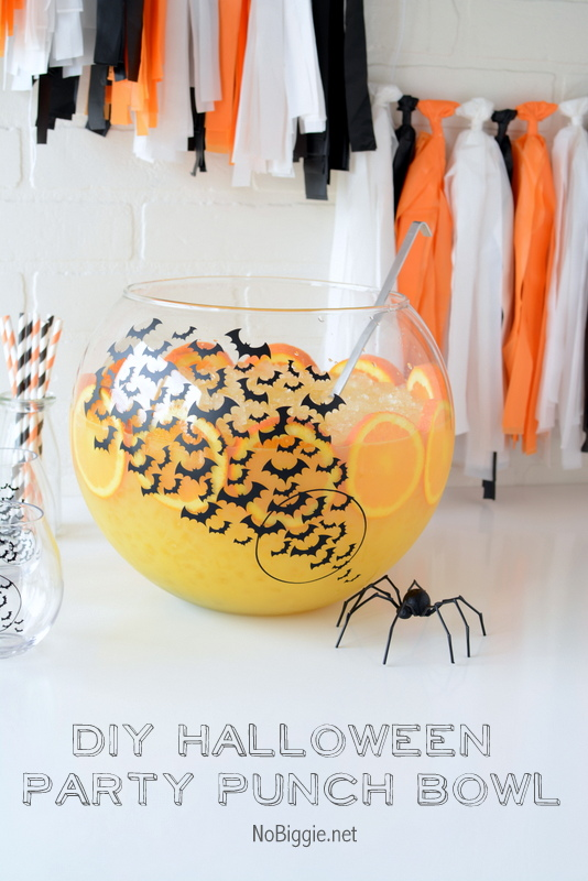 DIY Halloween Party Punch Bowl | NoBiggie.net