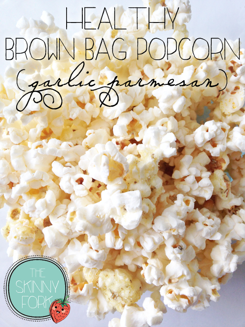 Healthy brown bag popcorn | 25+ gluten free and dairy free snack ideas