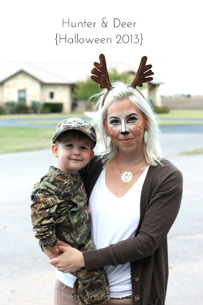 Hunter and deer costume | 15+ creative DIY Halloween costumes for moms  sc 1 st  NoBiggie : deer costume diy  - Germanpascual.Com