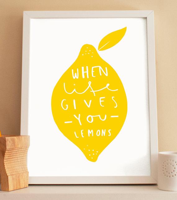 Kitchen Lemon Print | 25+ lemon ideas