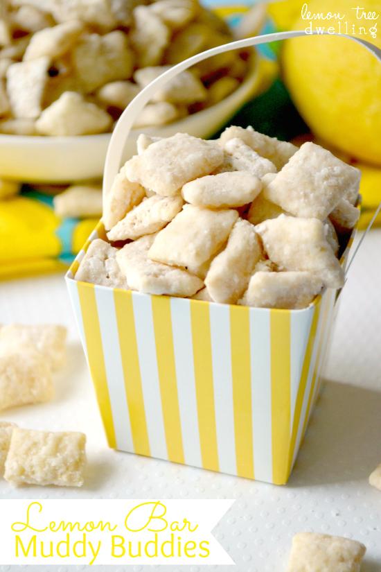 Lemon Bar Muddy Buddies | 25+ lemon recipes