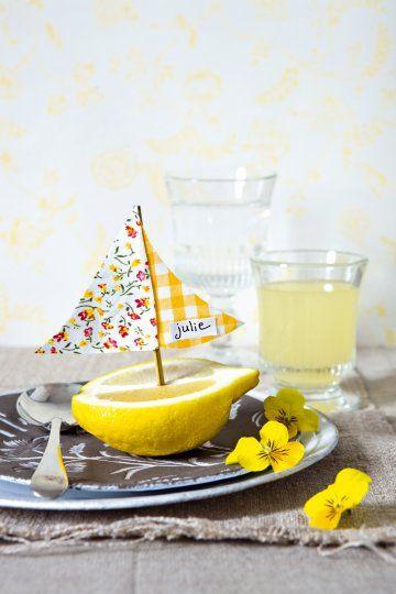 Lemon Place Markers | 25+ lemon ideas